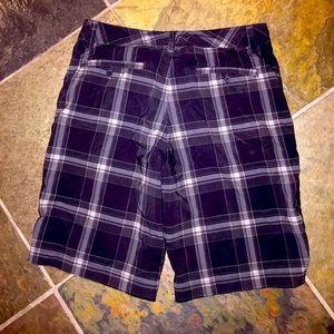 Men's Plaid Black/White Hybrid Shorts/Swim